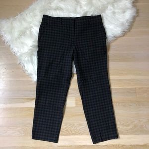 Theory Wool Pants Black Grey Size 4 Women's